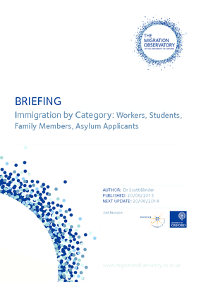 Immigration by Category: Workers, Students, Family Members, Asylum Applicants