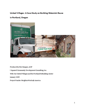 United Villages: A Case Study on Building Materials Reuse in Portland, Oregon