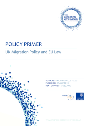 Policy Primer: UK Migration Policy and EU Law