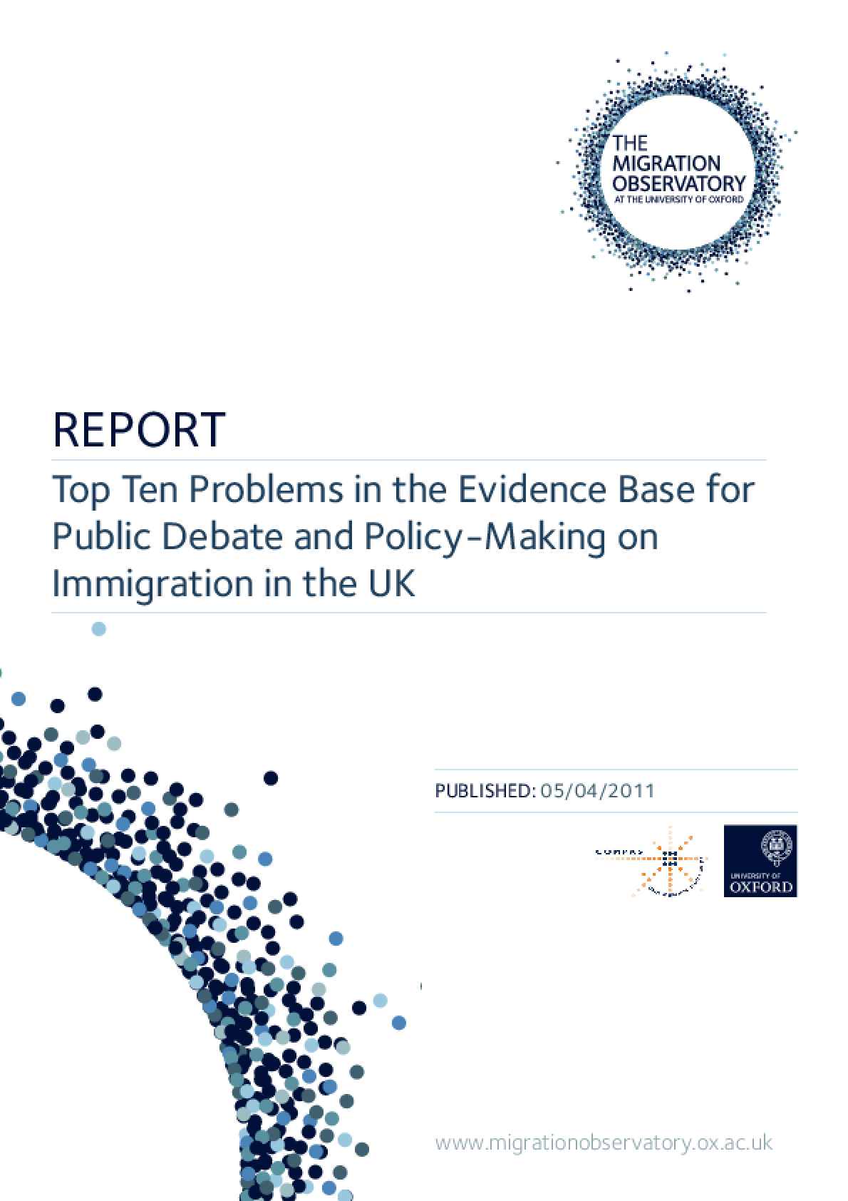 Top Ten Problems in the Evidence Base for Public Debate and Policy-Making on Immigration in the UK