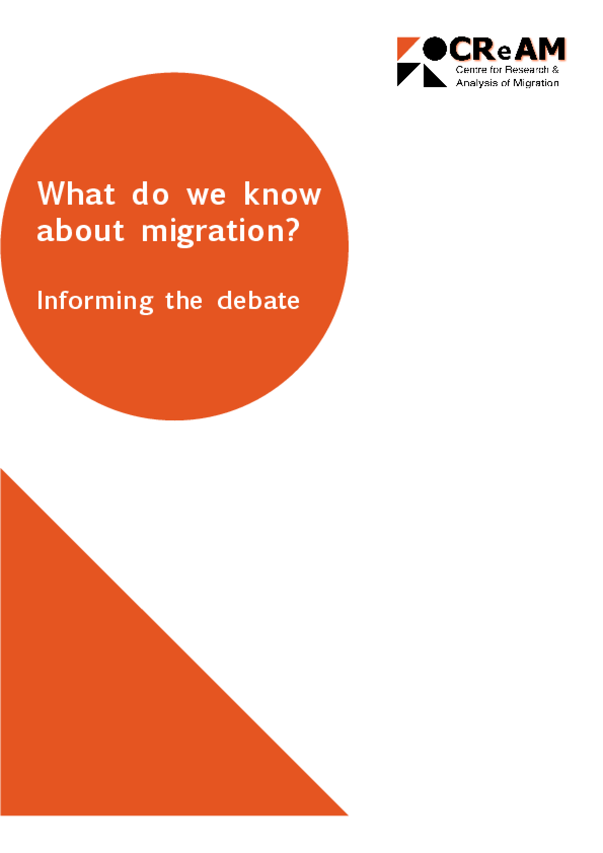 What Do We Know About Migration? Informing the Debate