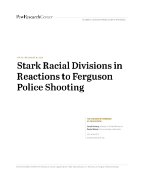 Stark Racial Divisions in Reactions to Ferguson Police Shooting