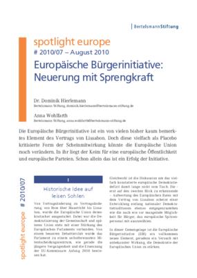 Europäische Bürgerinitiative – Neuerung mit Sprengkraft