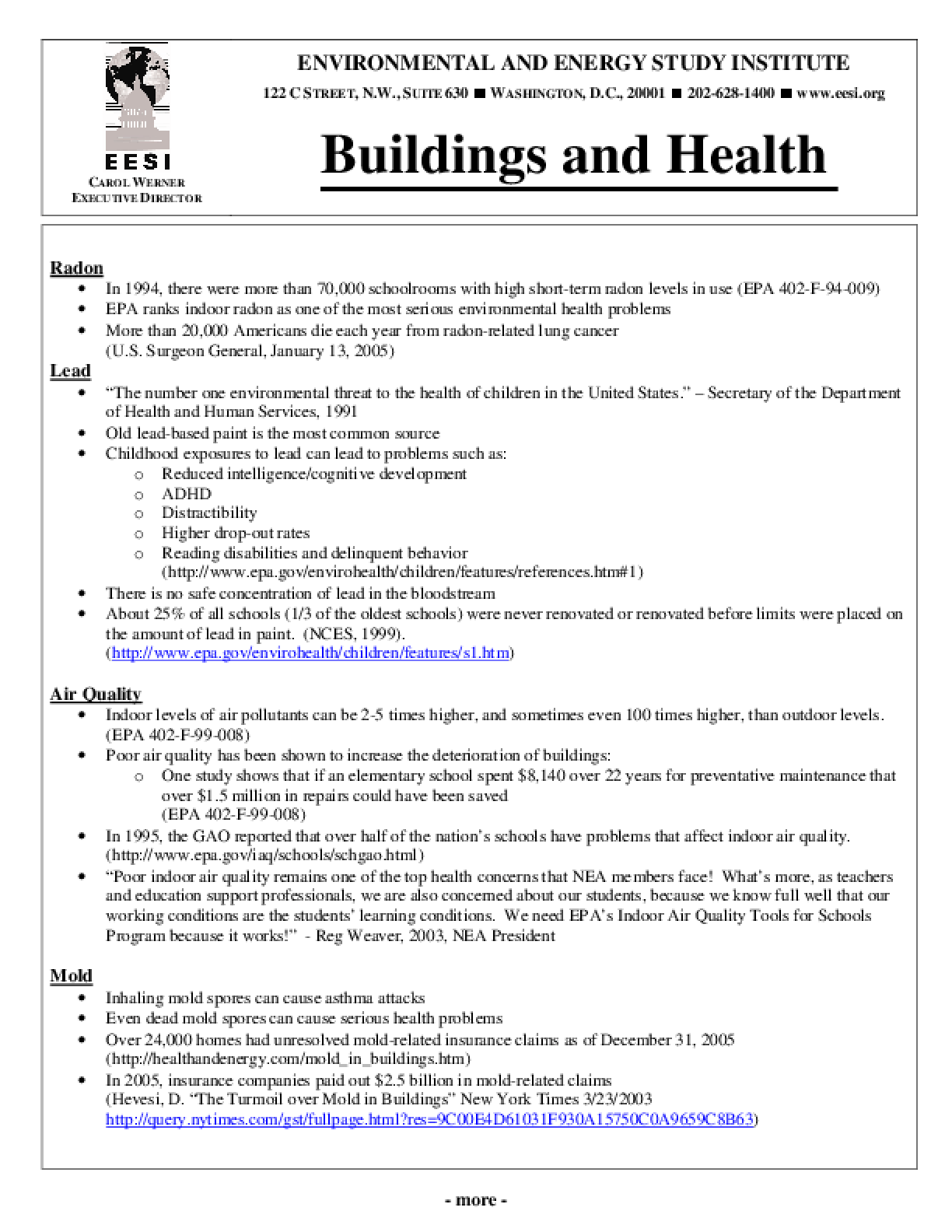 Buildings and Health