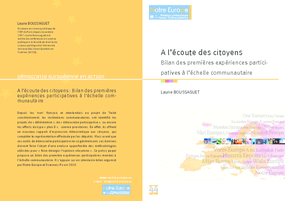 A l'Écoute des Citoyens: Bilan des Premières Expériences Participatives Organisées à l'Échelle Communautaire