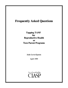 FAQ: Tapping TANF for Reproductive Health or Teen Parent Programs