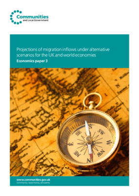Projections of Migration Inflows Under Alternative Scenarios for the UK and World Economies