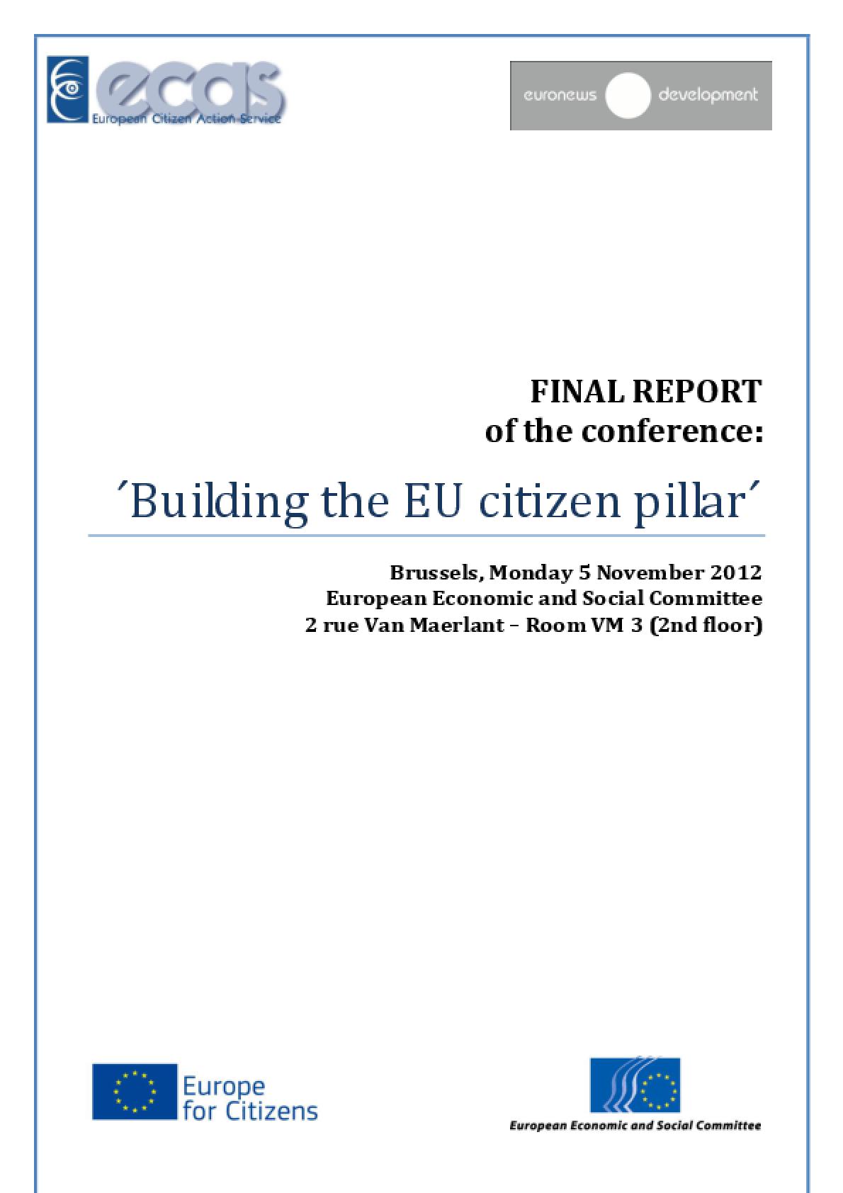 Building the EU Citizen Pillar