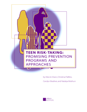 Teen Risk-Taking: Promising Prevention Programs and Approaches
