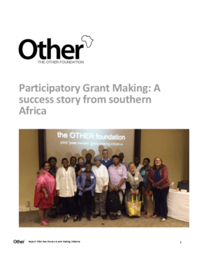 Participatory Grant Making: A Success Story from Southern Africa