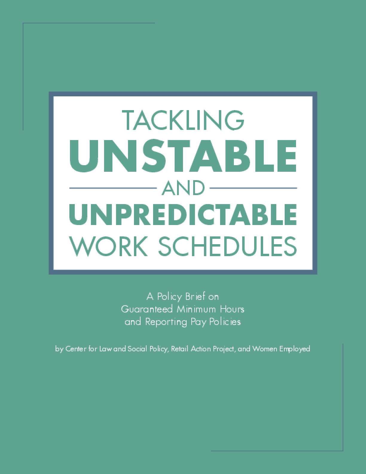 Tackling Unstable and Unpredictable Work Schedules