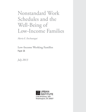 Nonstandard Work Schedules and the Well-Being of Low-Income Families
