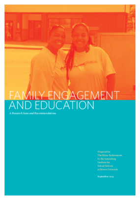 Family Engagement and Education: A Research Scan and Recommendations