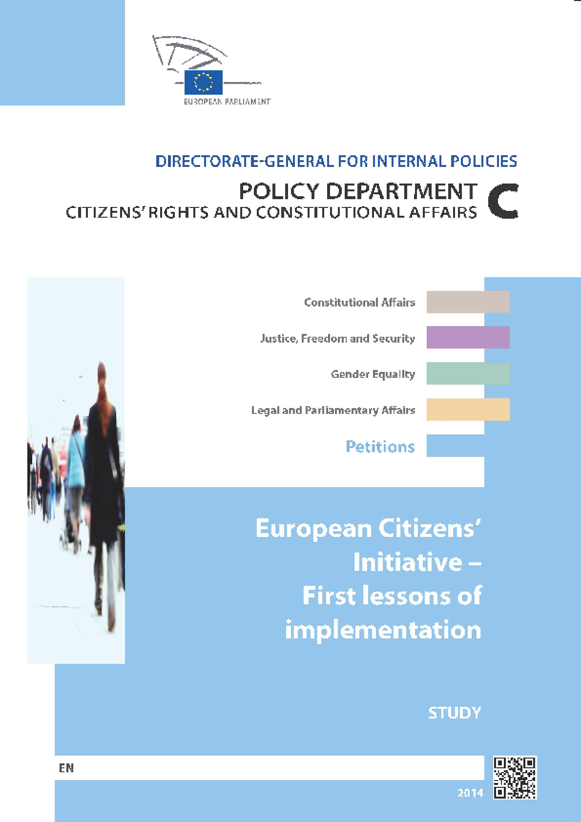 European Citizens' Initiative - First Lessons of Implementation