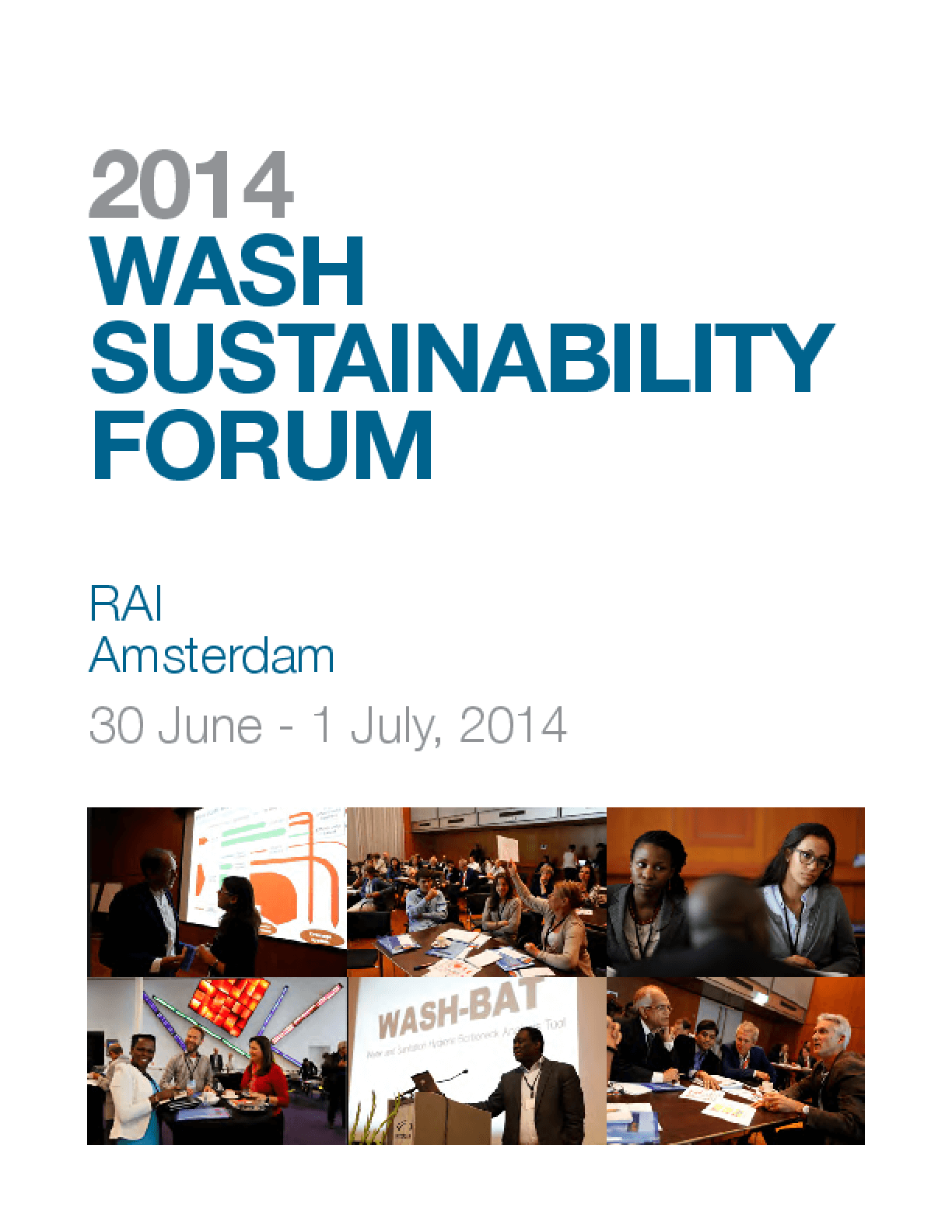 2014 WASH Sustainability Forum