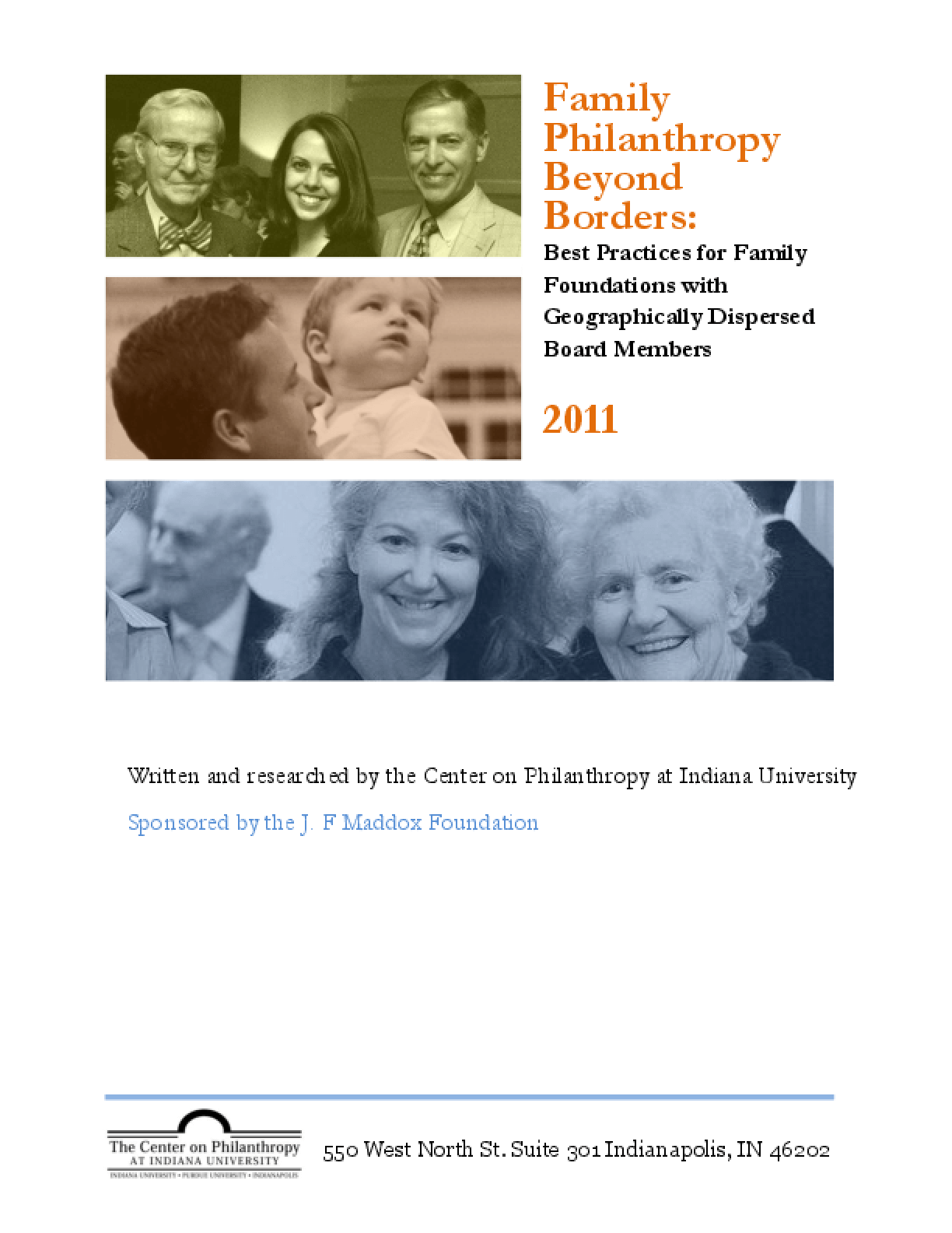 Family Philanthropy Beyond Borders: Best Practices for Family Foundations with Geographically Dispersed Board Members 2011