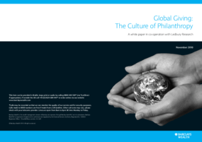 Global Giving: The Culture of Philanthropy