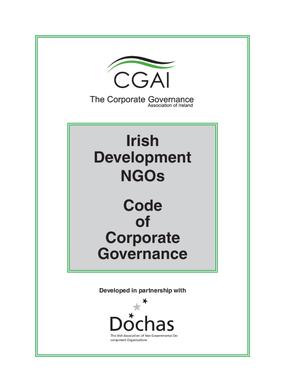 Irish Development NGOs Code of Corporate Governance