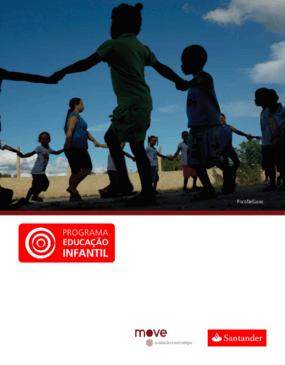 Síntese da avaliação externa do programa educação infantil do Santander