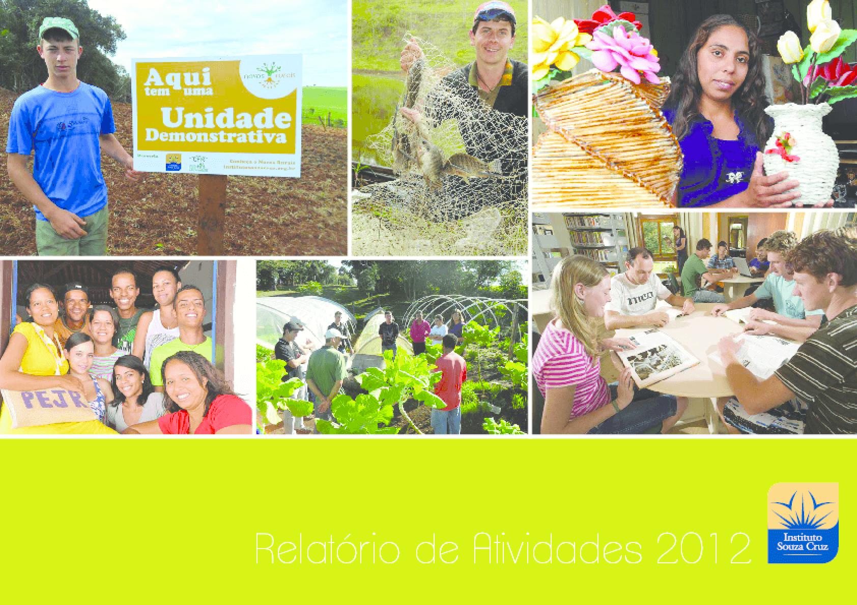 Relatório de atividades 2012 - Instituto Souza Cruz