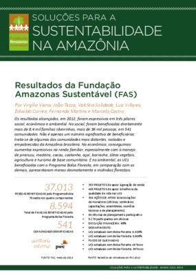 Soluções para a sustentabilidade na Amazônia: resultados da Fundação Amazonas Sustentável (FAS)