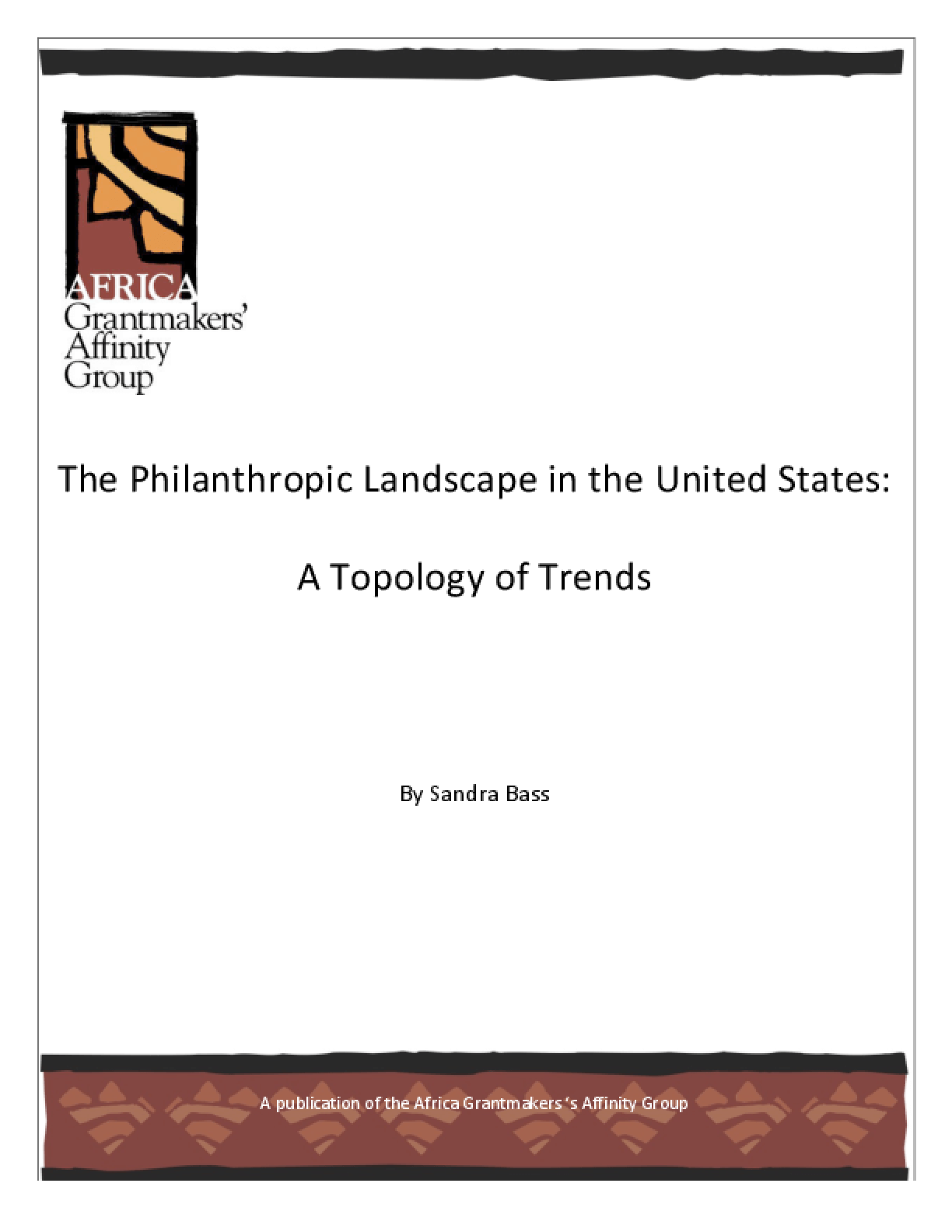 The Philanthropic Landscape in the United States: A Topology of Trends