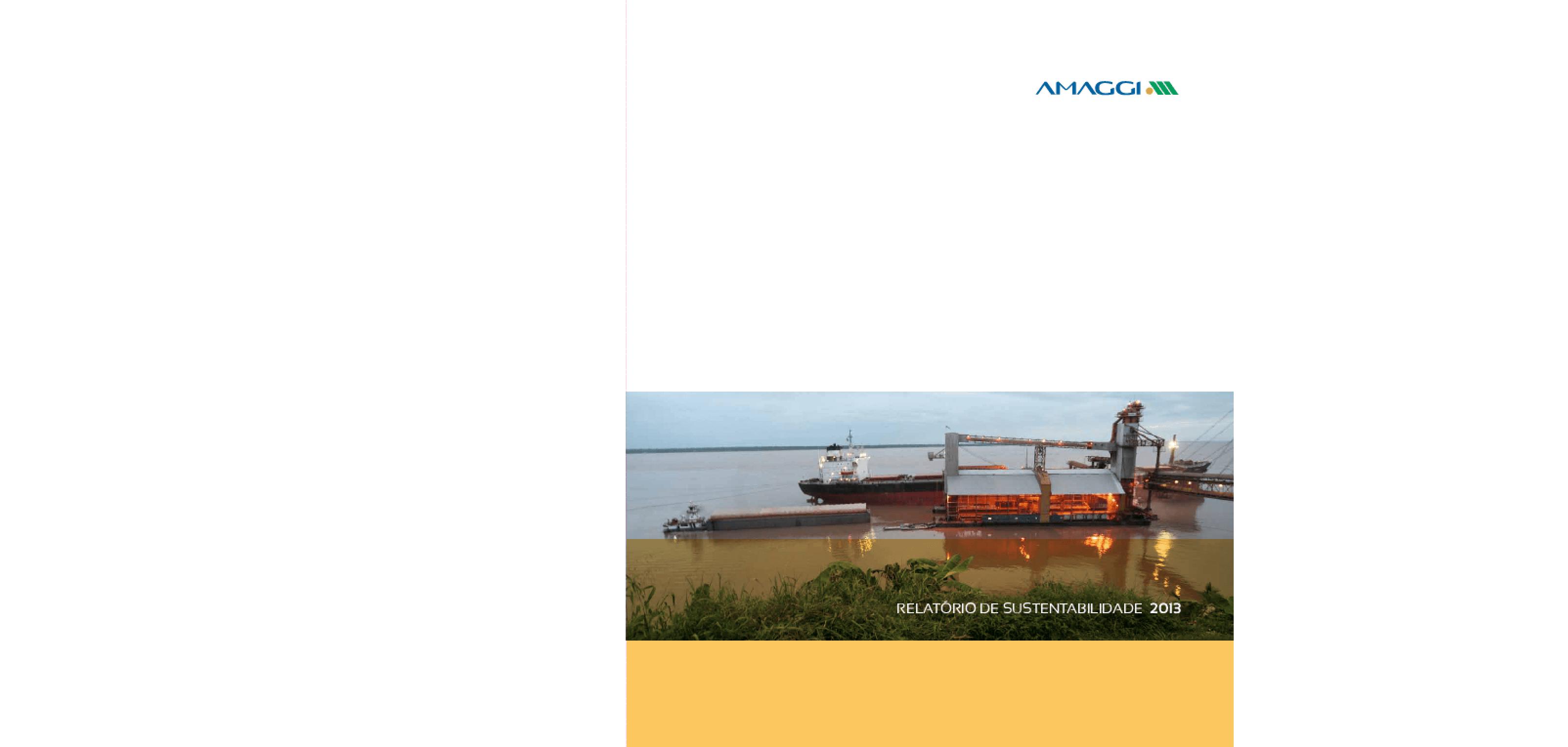 Relatório de sustentabilidade 2013 -- André Maggi