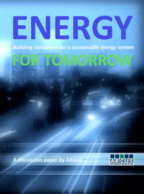 Energy for Tomorrow: Building Consensus for Sustainable Energy System