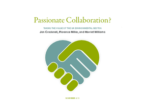 Passionate Collaboration? Taking the Pulse of the UK Environmental Sector