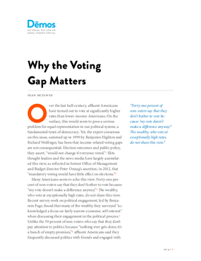 Why the Voting Gap Matters