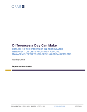 Differences a Day Can Make: Exploring the Effects of Abbreviated Intervention on Improving Financial Management for Youth-serving Organizations