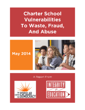 Charter School Vulnerabilities to Waste. Fraud and Abuse