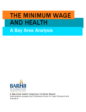 The Minimum Wage and Health: A Bay Area Analysis