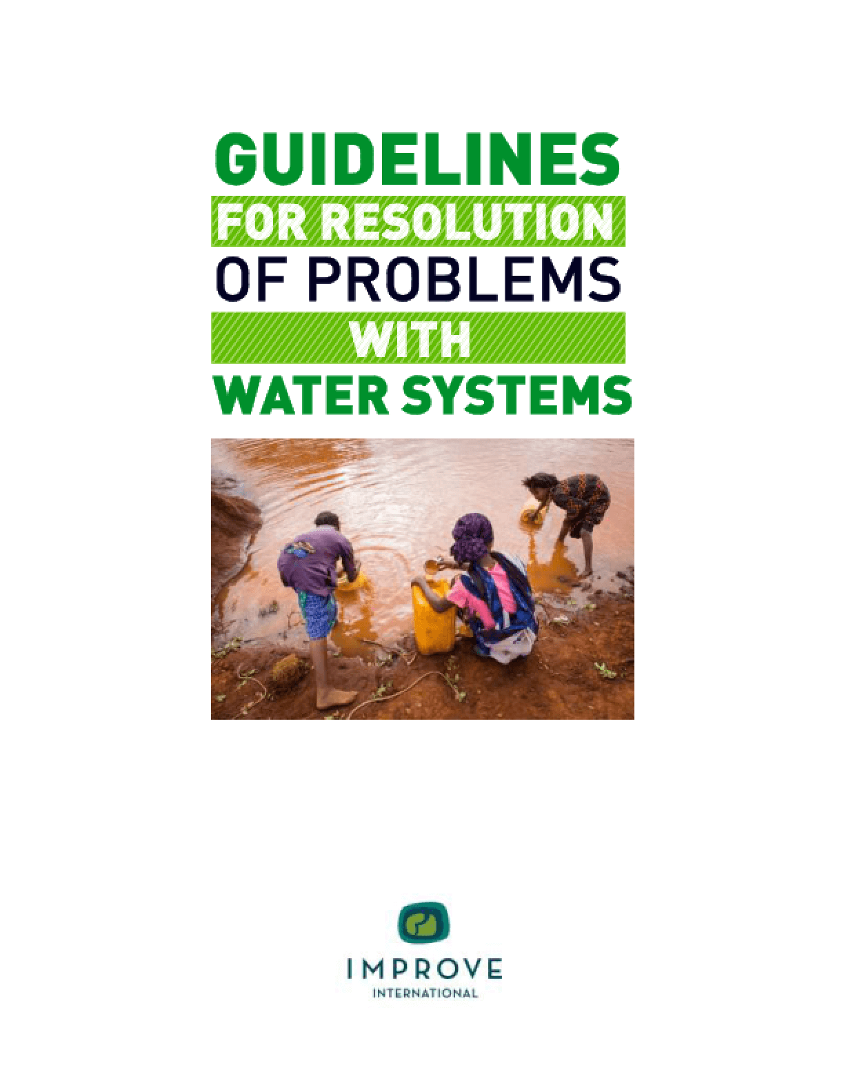 Guidelines for Resolution of Problems with Water Systems