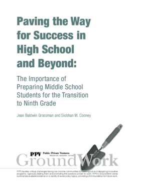 Paving the Way for Success in High School and Beyond: The Importance of Preparing Middle School Students for the Transition to Ninth Grade