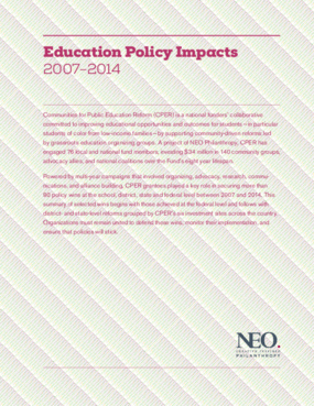 Education Policy Impacts: 2007-2014