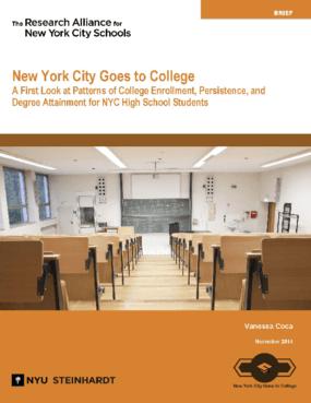 New York City Goes to College: A First Look at Patterns of College Enrollment, Persistence, and Degree Attainment for NYC High School Students