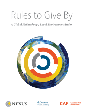 Rules to Give By: A Global Philanthropy Legal Environment Index