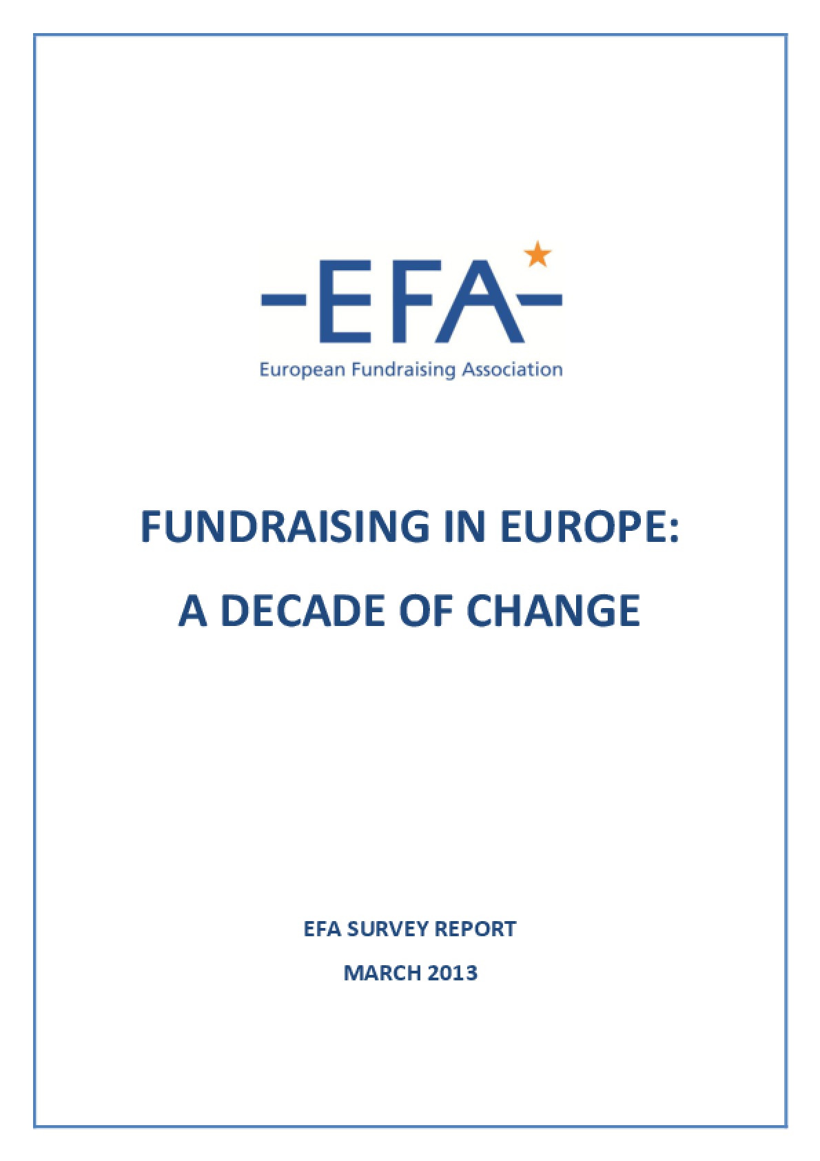 Fundraising in Europe: A Decade of Change