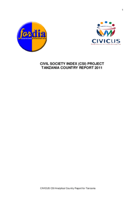 Civil Society Index (CSI) Project: Tanzania Country Report 2011