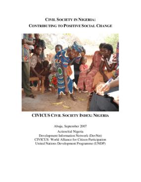 Civil Society in Nigeria: Contributing to Positive Social Change