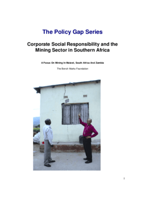 Corporate Social Responsibility and the Mining Sector in Southern Africa: A Focus on Mining in Malawi, South Africa and Zambia