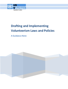 Drafting and Implementing Volunteerism Laws and Policies