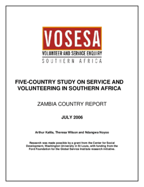Five-country Study on Service and Volunteering in Southern Africa: Zambia Country Report