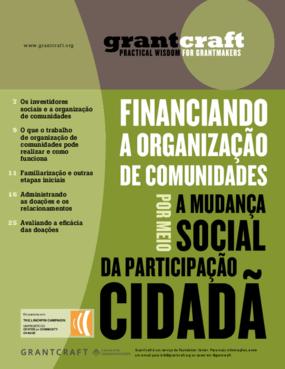Financiando a organização de comunidades: a mudança social por meio de participação cidadã