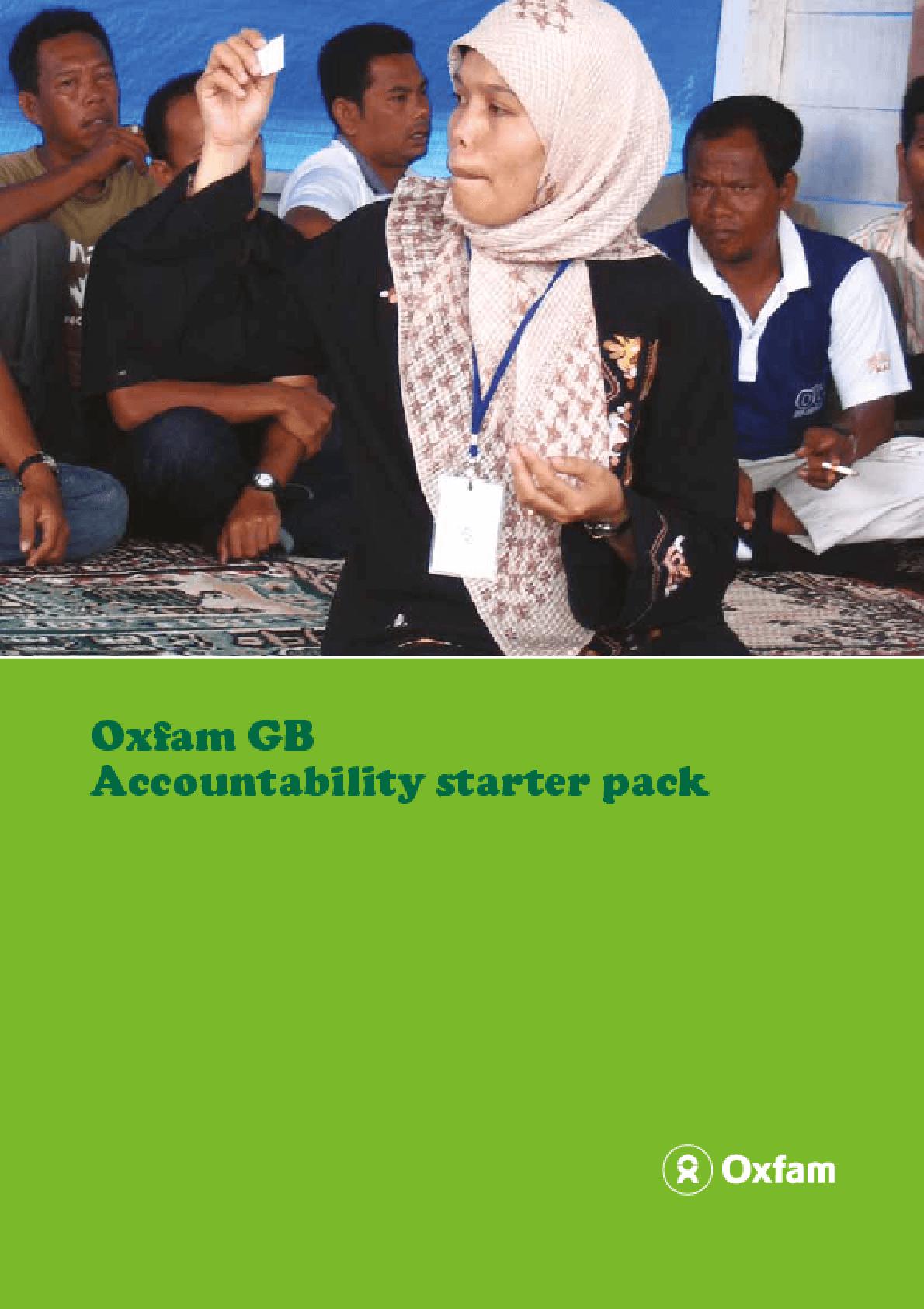Oxfam GB: Accountability Starter Pack
