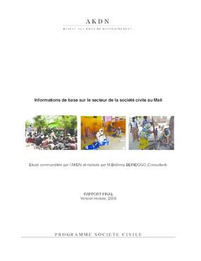 Informations de Base Sur le Secteur de la Société Civile au Mali