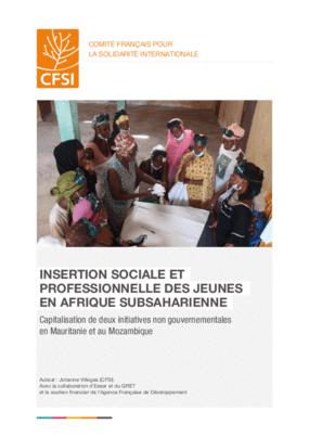 Insertion Sociale et Professionnelle des Jeunes en Afrique Subsaharienne: Capitalisation de Deux Initiatives Non Gouvernementales en Mauritanie et au Mozambique