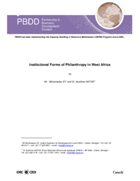 Institutional Forms of Philanthropy in West Africa