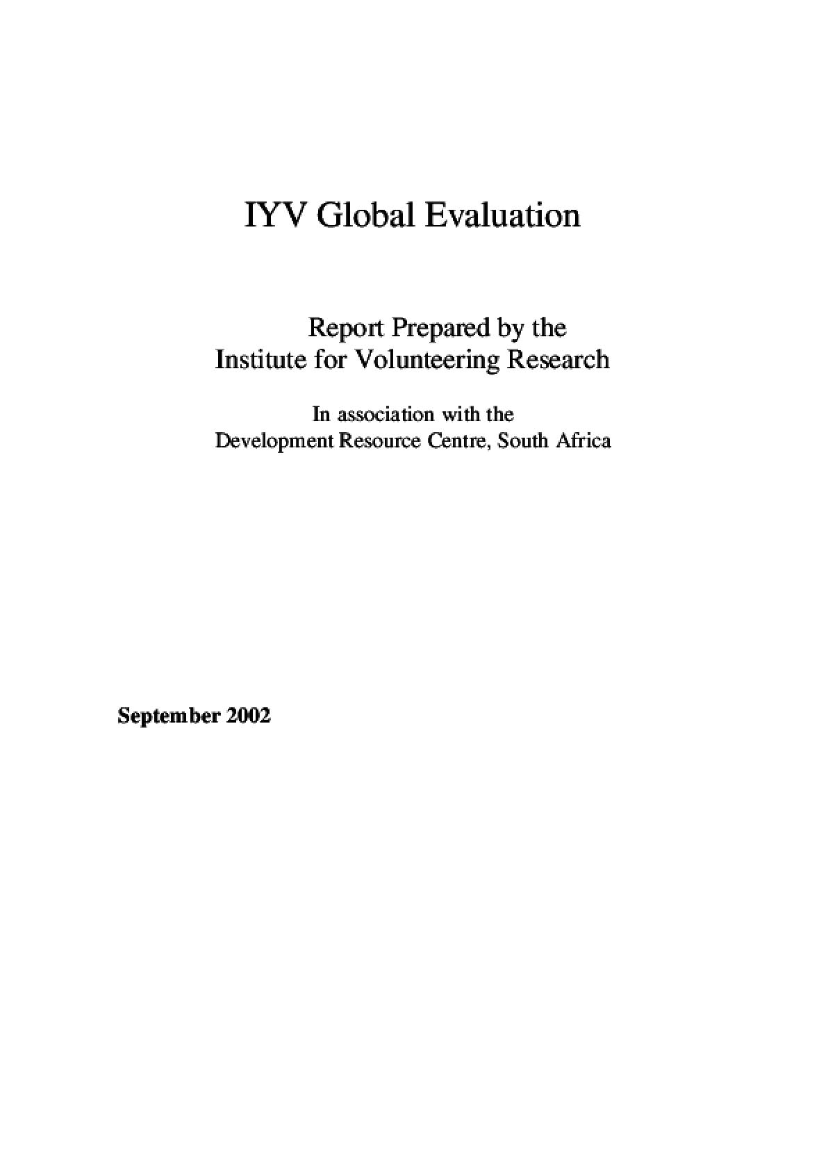 IYV Global Evaluation